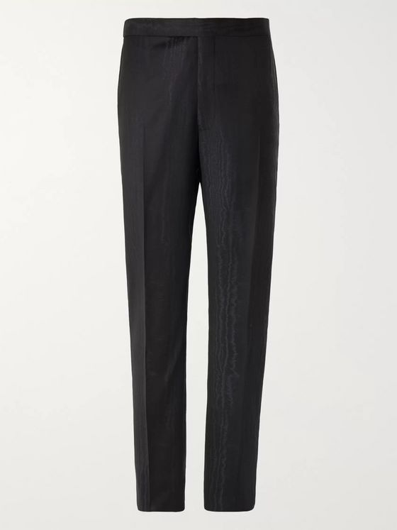 Richard James Midnight-Blue Wool-Jacquard Tuxedo Trousers