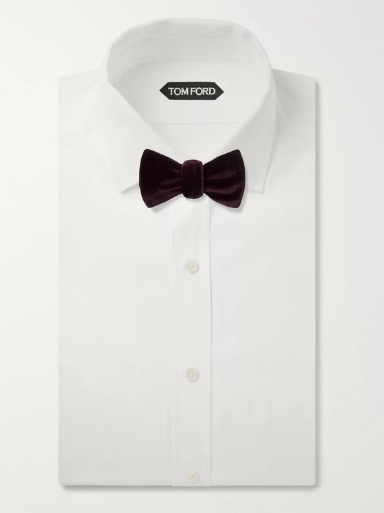 RICHARD JAMES Pre-Tied Cotton-Velvet Bow Tie