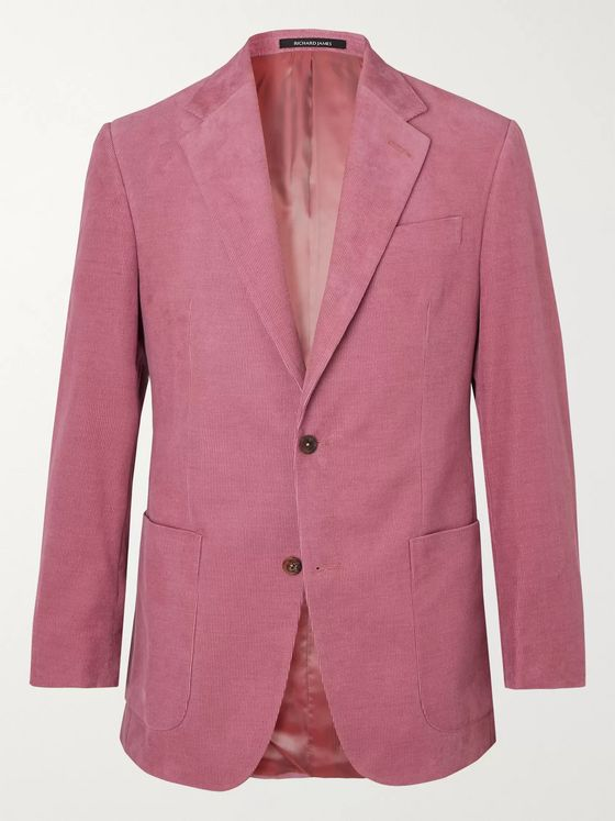 Richard James Pink Hyde Slim-Fit Cotton-Corduroy Suit Jacket