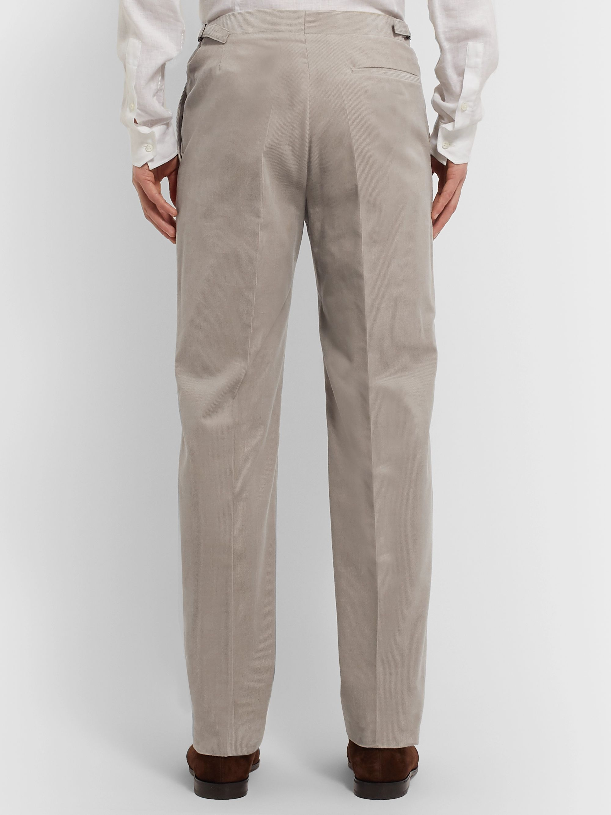 Richard James Pink Hyde Cotton-Corduroy Suit Trousers