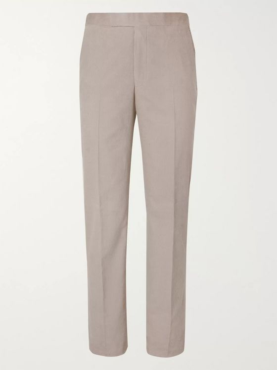 Richard James Stone Cotton-Corduroy Suit Trousers