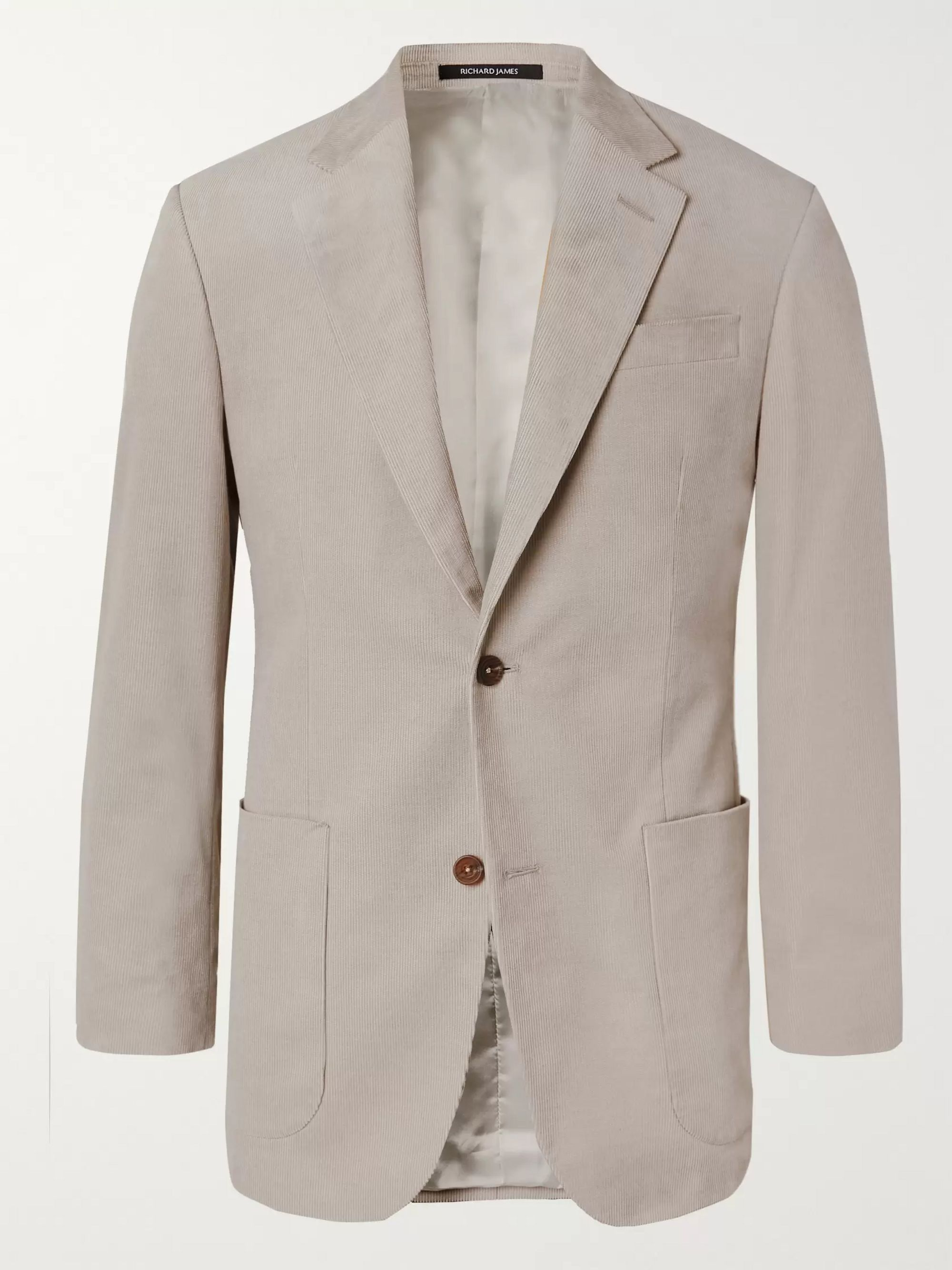 Richard James Stone Slim-Fit Cotton-Corduroy Suit Jacket