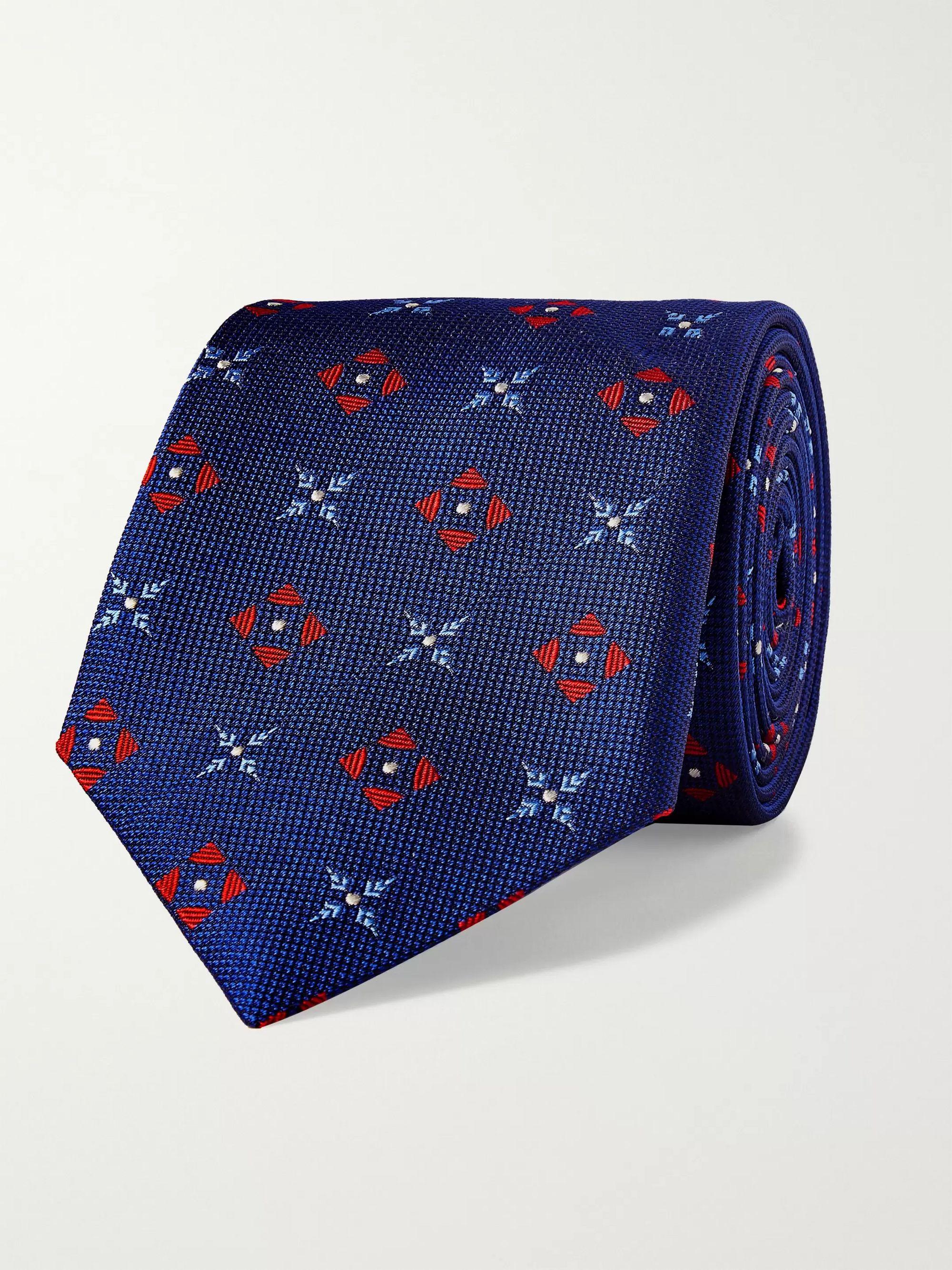 Blue 8cm Silk-Jacquard Tie | Turnbull & Asser | MR PORTER