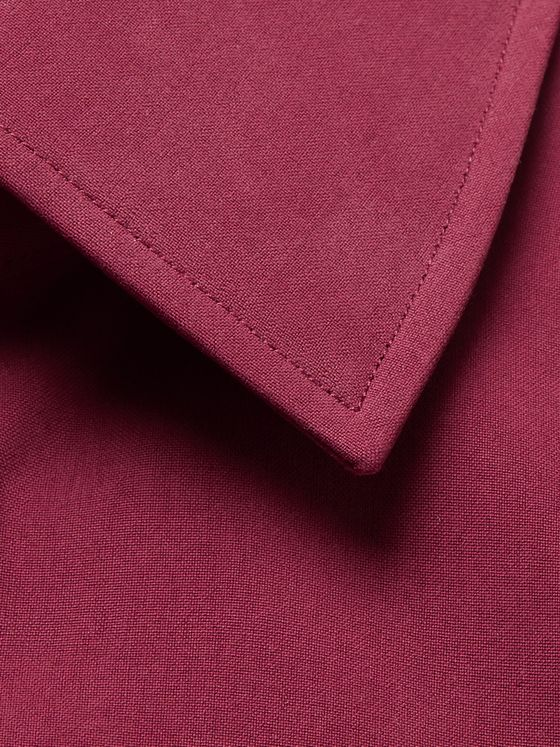 Turnbull & Asser Burgundy Silk Shirt