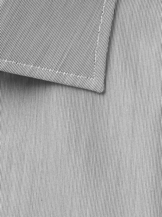 Turnbull & Asser Grey Cutaway-Collar Striped Cotton Shirt