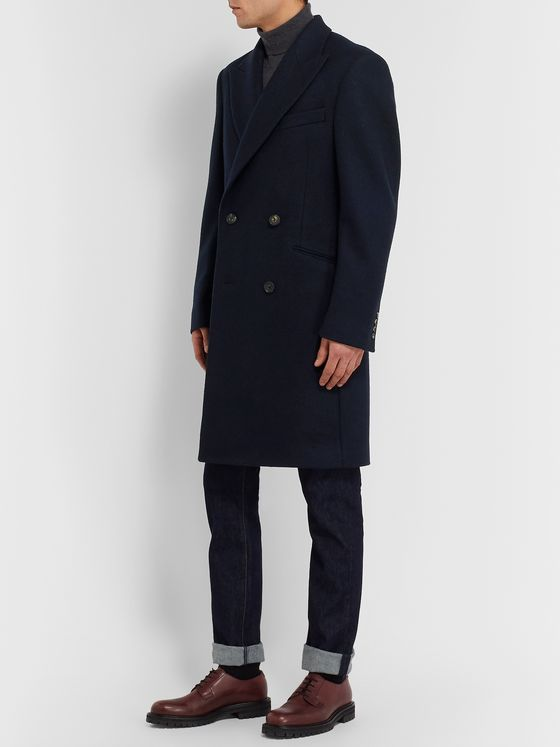 Richard James Double-Breasted Wool Overcoat