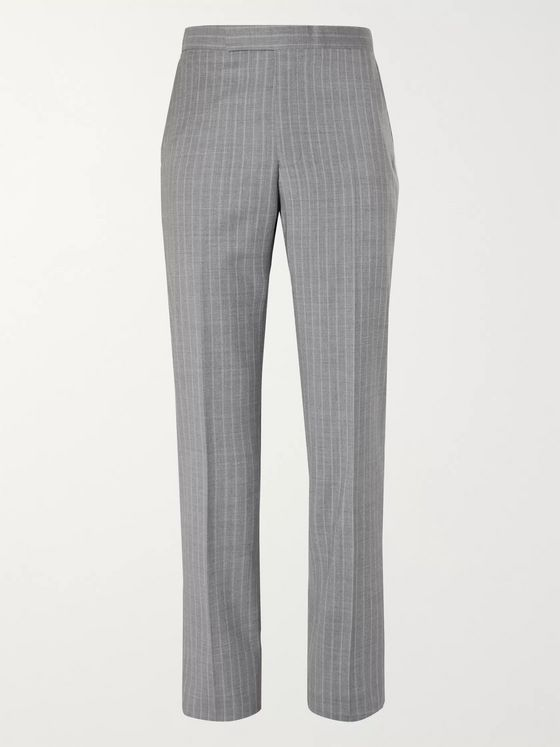 Richard James Pinstriped Wool-Flannel Suit Trousers