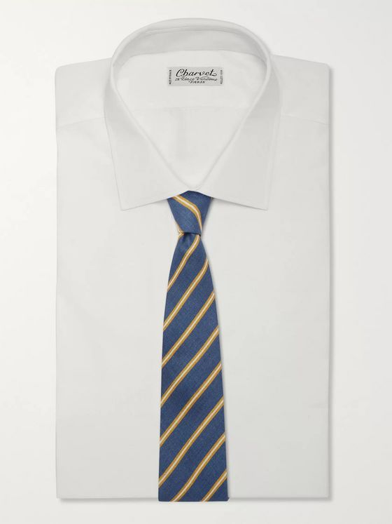 Bigi 8cm Striped Linen Tie