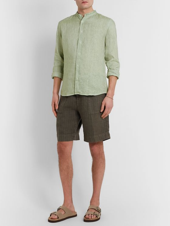 Altea Grandad-Collar Linen Shirt