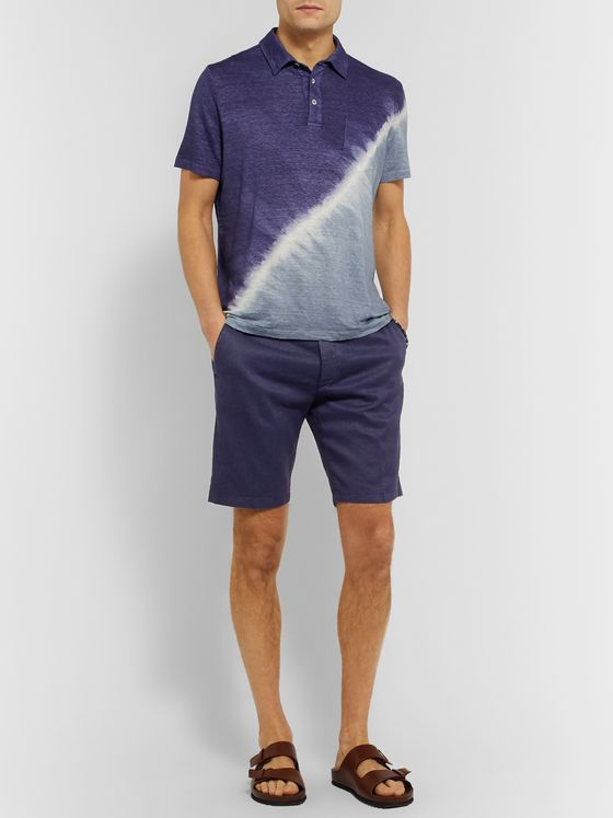 Altea Slim-Fit Stretch Slub Linen and Cotton-Blend Twill Shorts