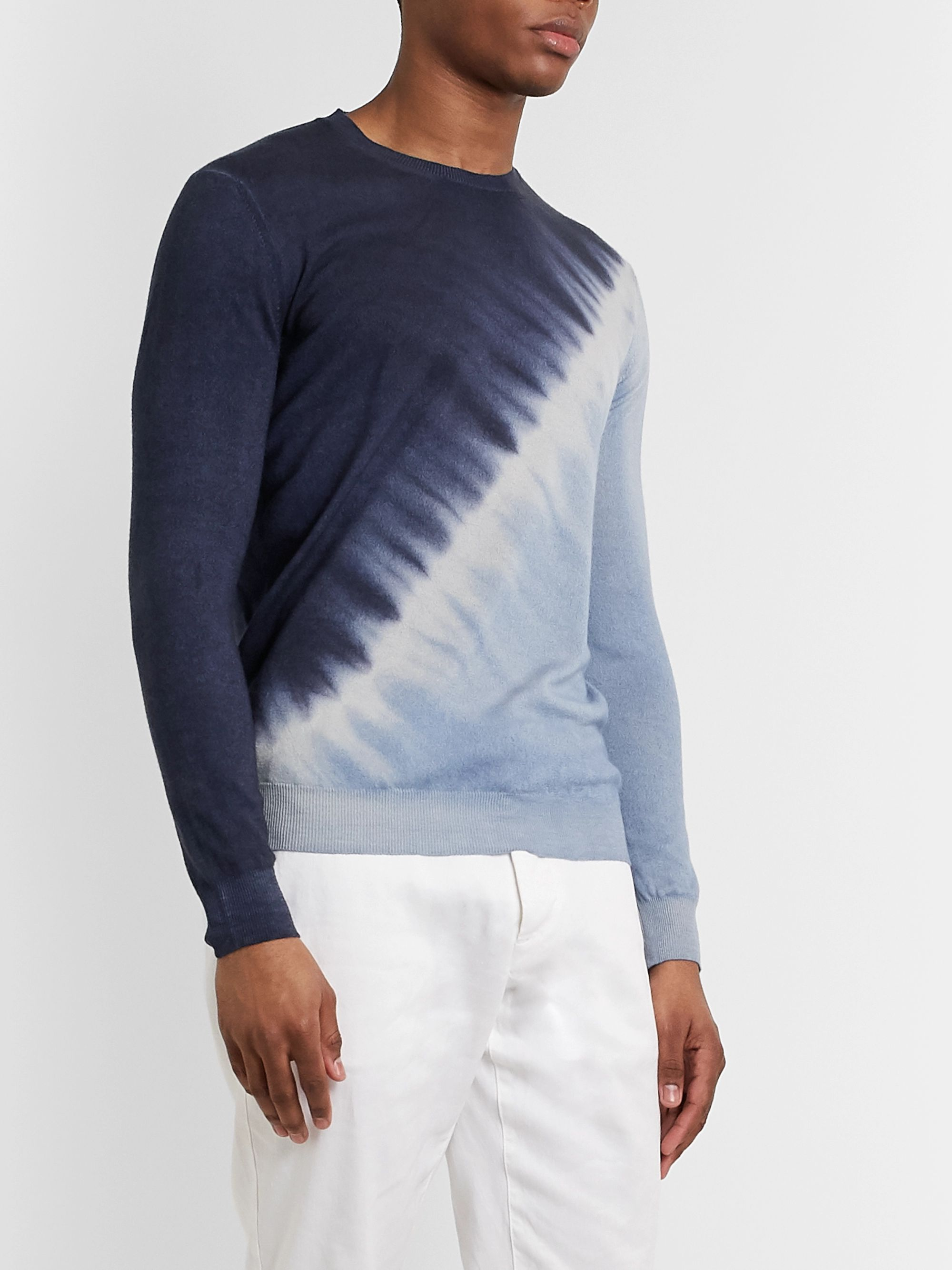 Altea Tie-Dyed Cashmere Sweater