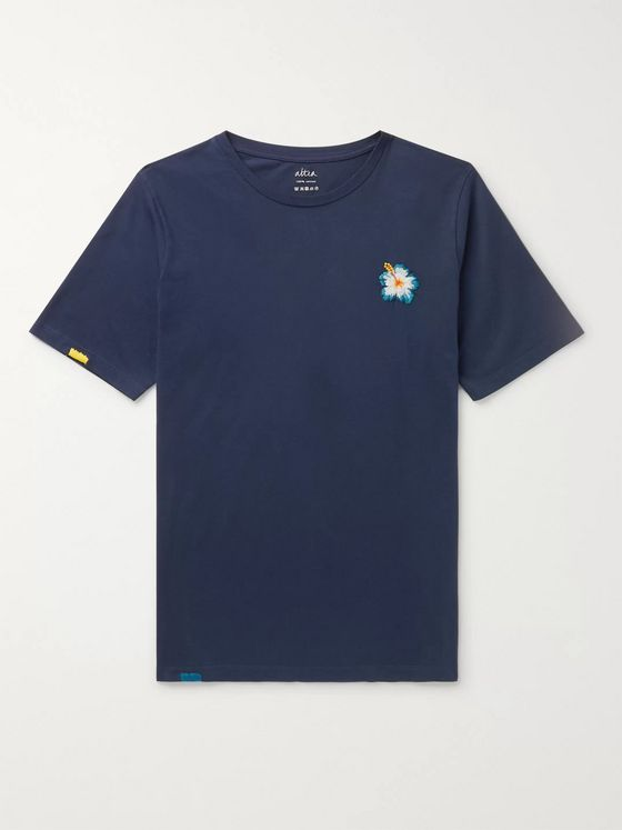Altea Embroidered Cotton-Jersey T-Shirt