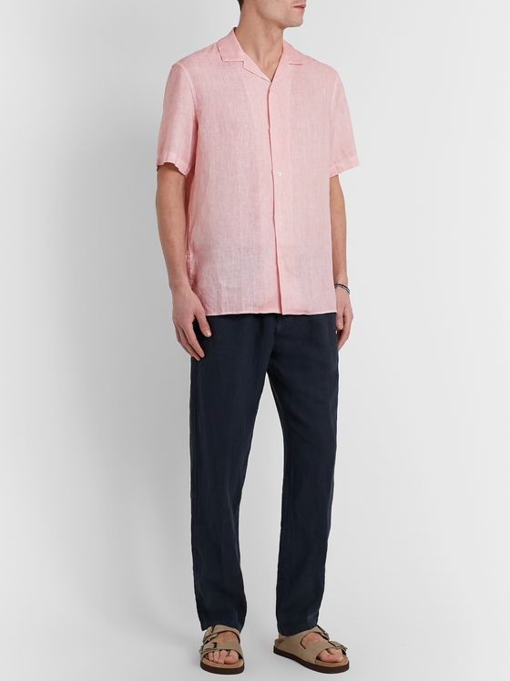 Altea Camp-Collar Linen Shirt