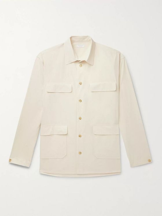 DEVEAUX Ethan Crinkled-Cotton Shirt