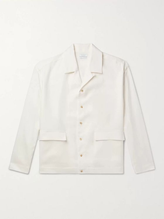 Deveaux Camp-Collar Linen Shirt
