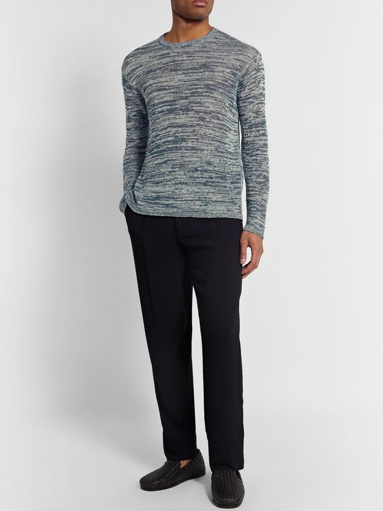 Giorgio Armani Mélange Linen and Virgin Wool-Blend Sweater
