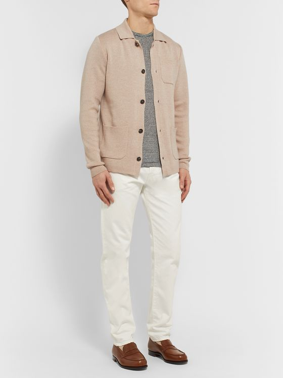 Caruso Slim-Fit Wool Cardigan
