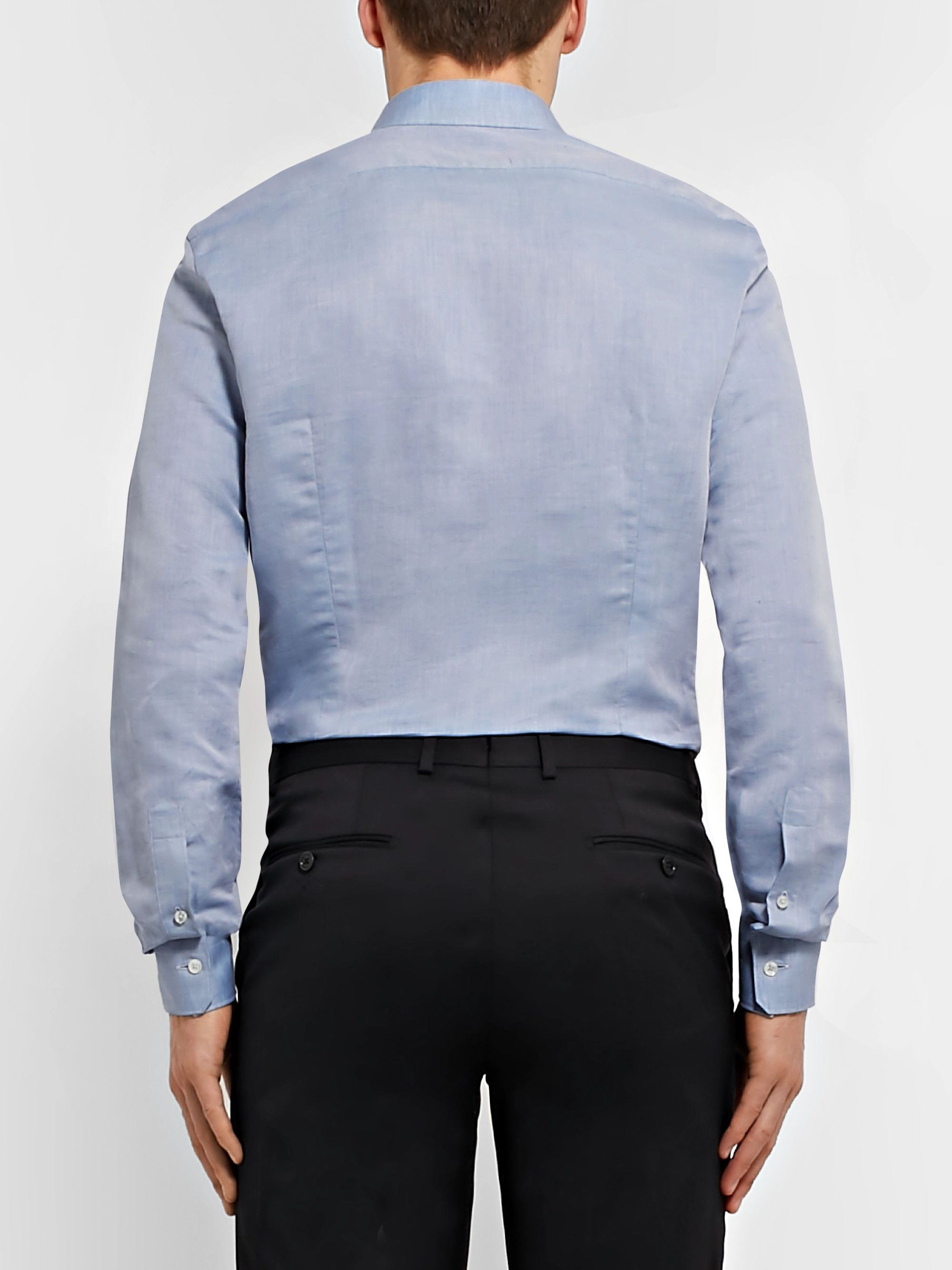 Ermenegildo Zegna Slim-Fit Linen and Cotton-Blend Shirt