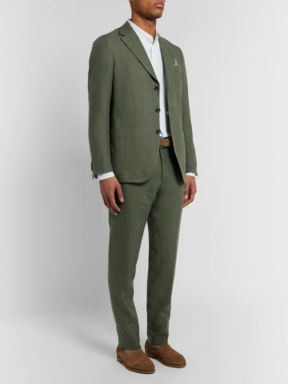 Caruso Slim-Fit Linen Suit Jacket