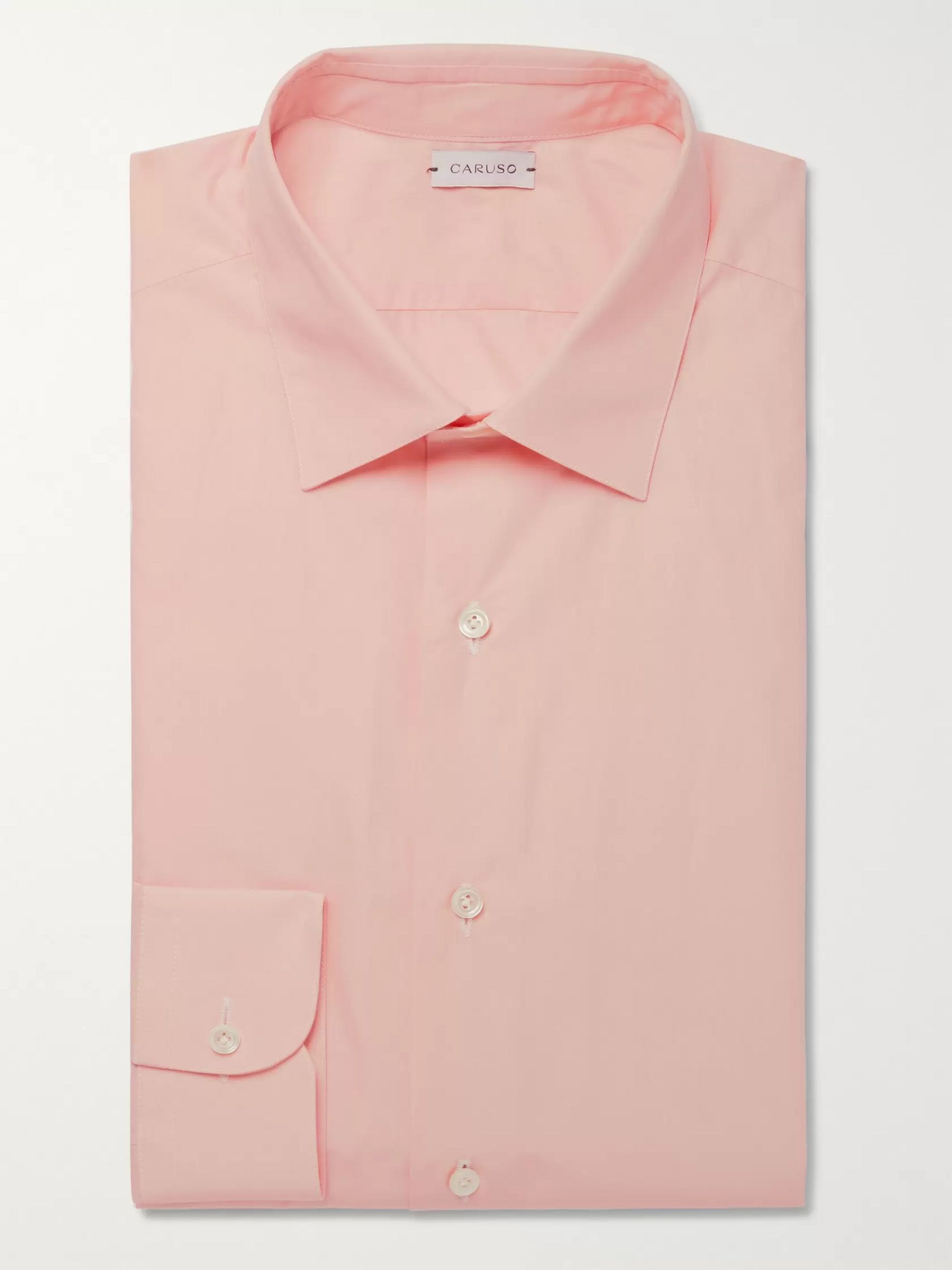Caruso Slim-Fit Cotton-Poplin Shirt
