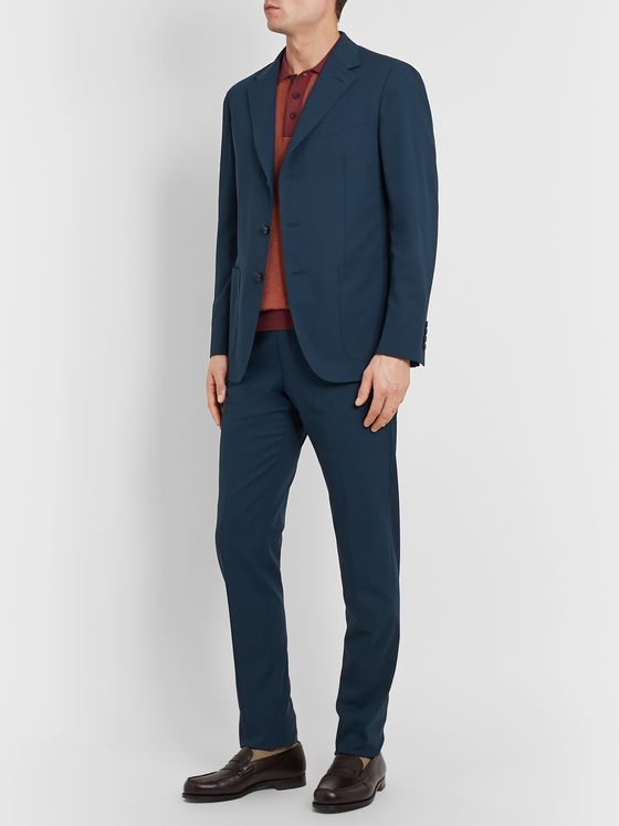 Caruso Slim-Fit Unstructured Cotton Suit Jacket