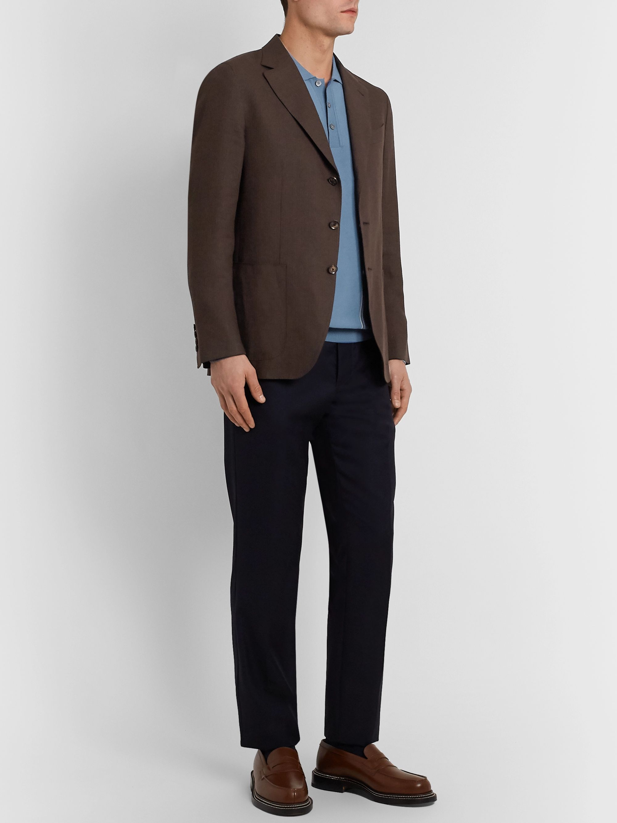 Caruso Slim-Fit Linen and Wool-Blend Blazer
