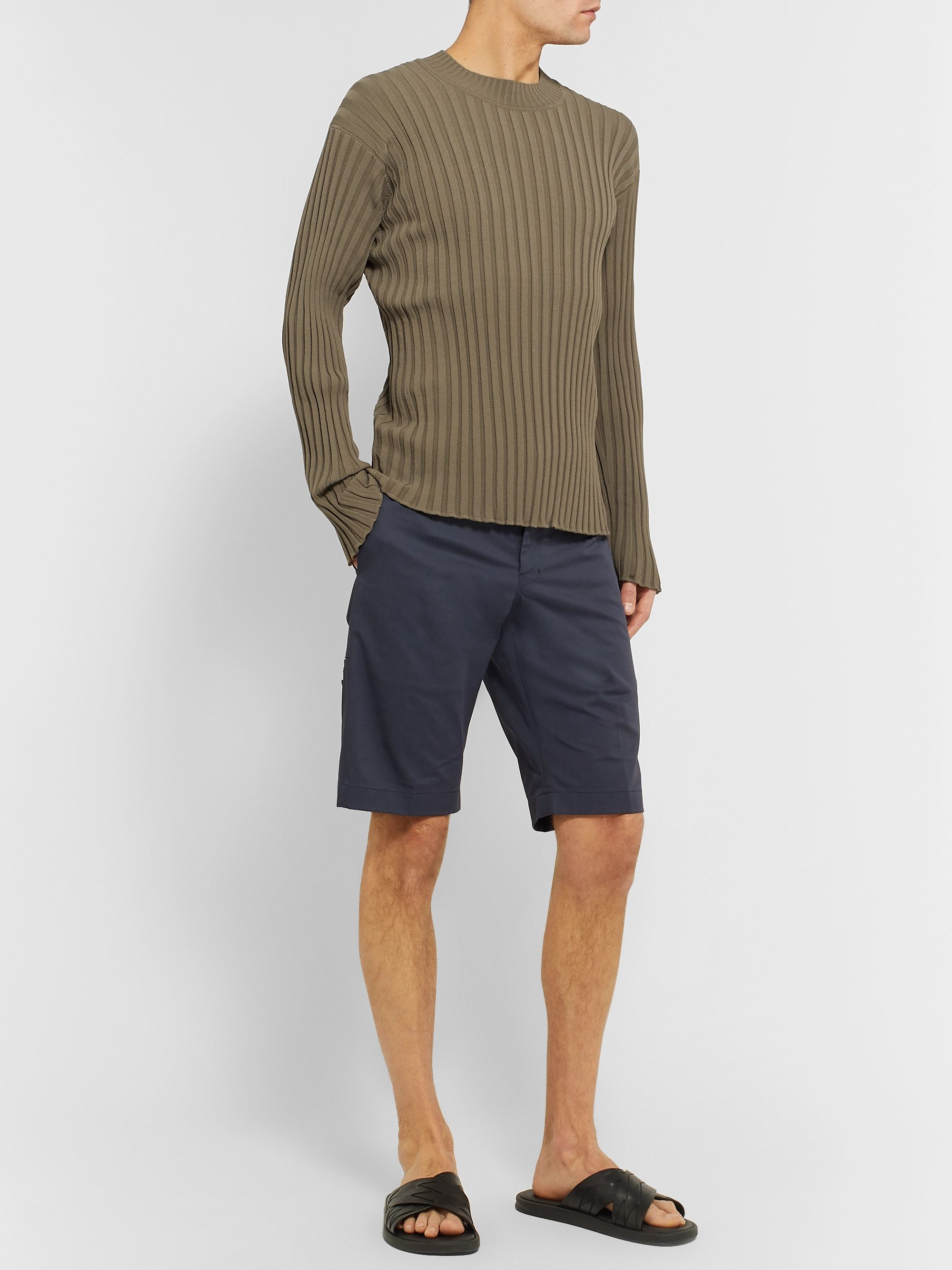Deveaux Ribbed-Knit Sweater