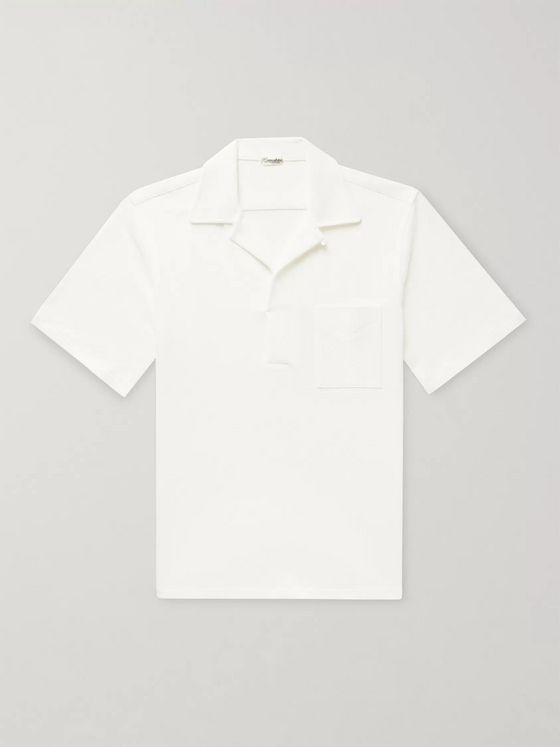 Camoshita Skipper Camp-Collar Cotton-Terry Shirt