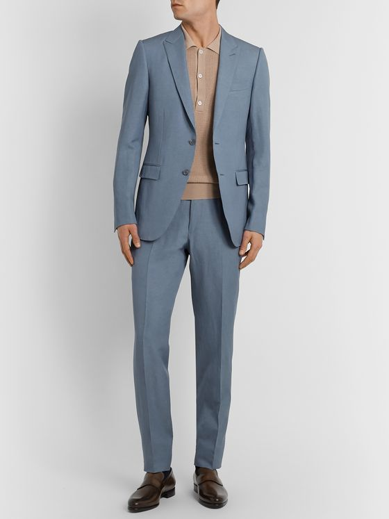 ERMENEGILDO ZEGNA Slim-Fit Wool and Linen-Blend Suit