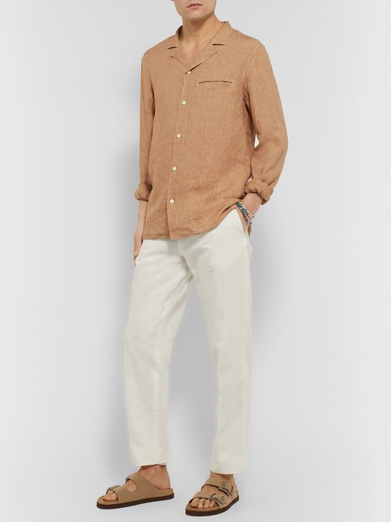 Caruso Camp-Collar Linen Shirt