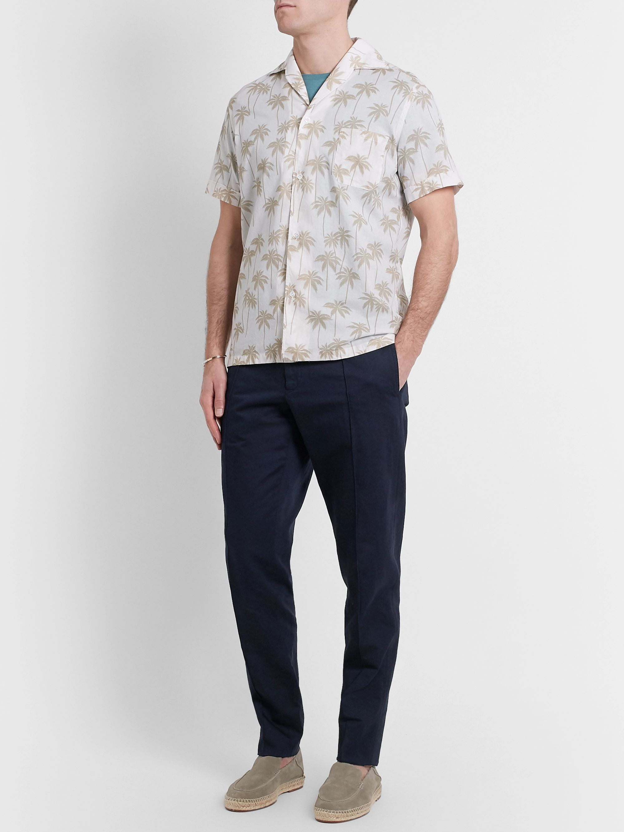 Ermenegildo Zegna Cotton and Linen-Blend Drawstring Trousers