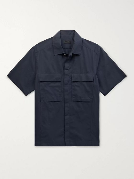 Ermenegildo Zegna Cotton and Silk-Blend Overshirt