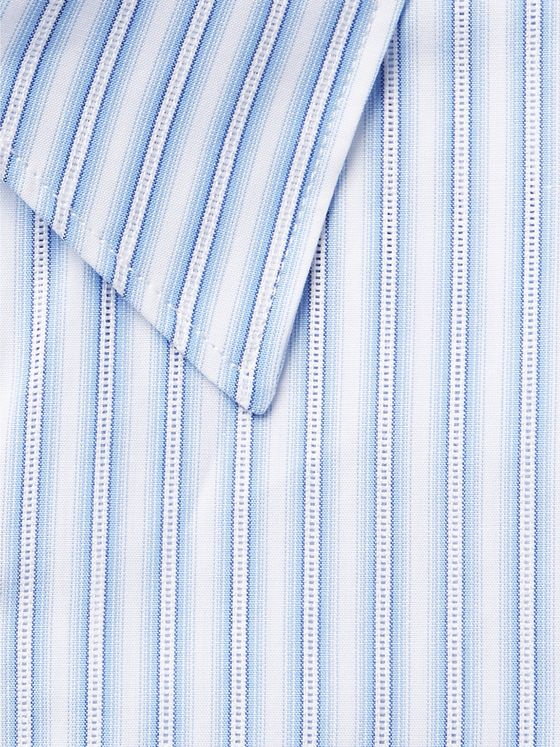 Gabriela Hearst Light-Blue Quevedo Slim-Fit Striped Cotton Shirt