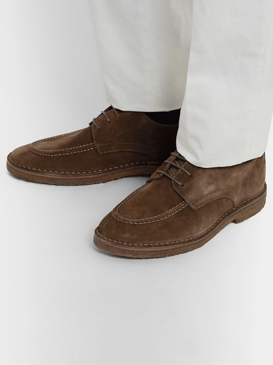 Drake's Chard Suede Slip-On Derby Shoes