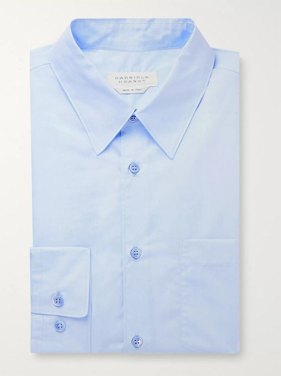 Gabriela Hearst Light-Blue Reyes Slim-Fit Cotton-Chambray Shirt