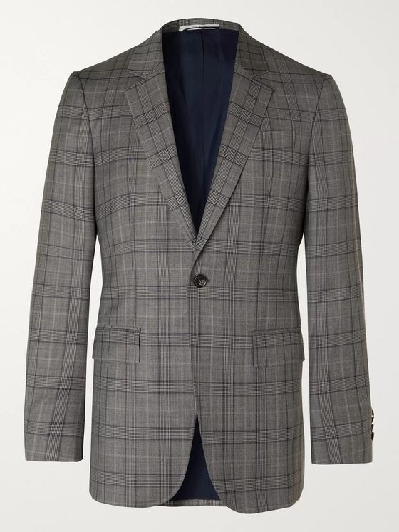 Gabriela Hearst Damien Prince of Wales Checked Wool Suit Jacket