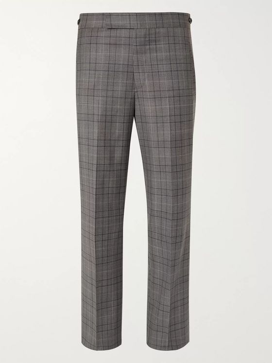 Gabriela Hearst Martin Prince of Wales Checked Wool Suit Trousers