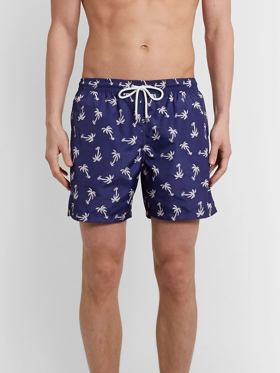Drake's Mid-Length Printed Swim Shorts