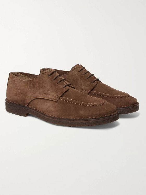 Drake's Chard Moc Suede Derby Shoes