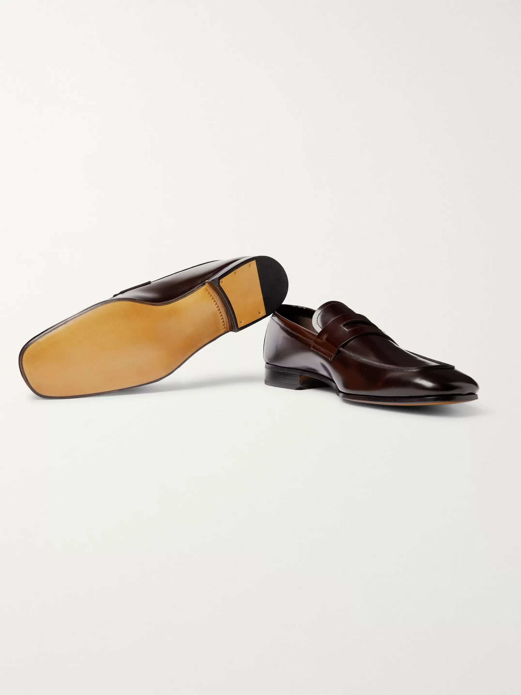 TOM FORD Midland Spazzolato Leather Penny Loafers