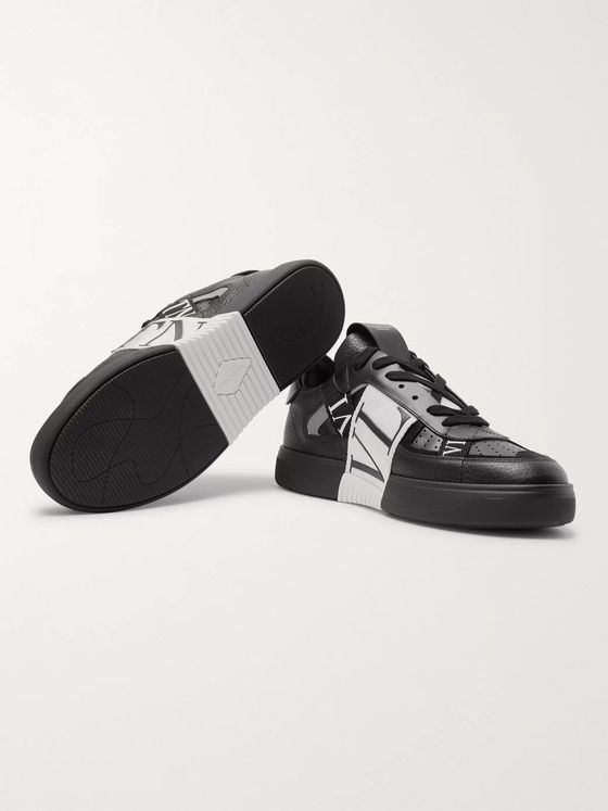 Valentino Valentino Garavani VL7N Webbing-Trimmed Faux Leather Sneakers