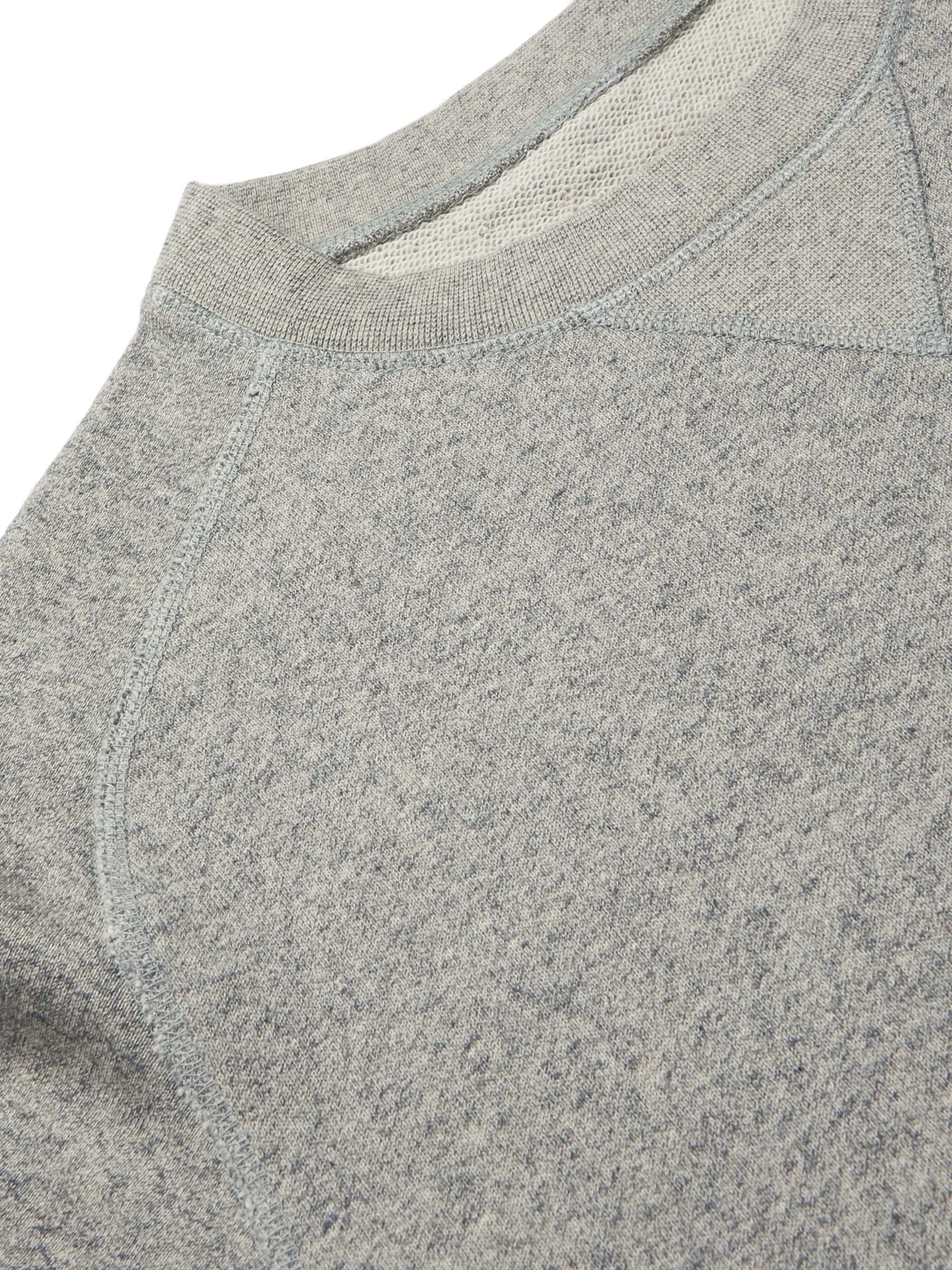 Secondskin Mélange Loopback Cotton-Jersey Sweatshirt