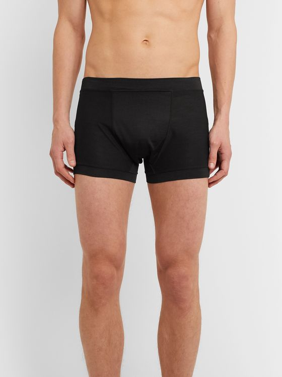 Secondskin Air Knit Silk-Jersey Boxer Briefs