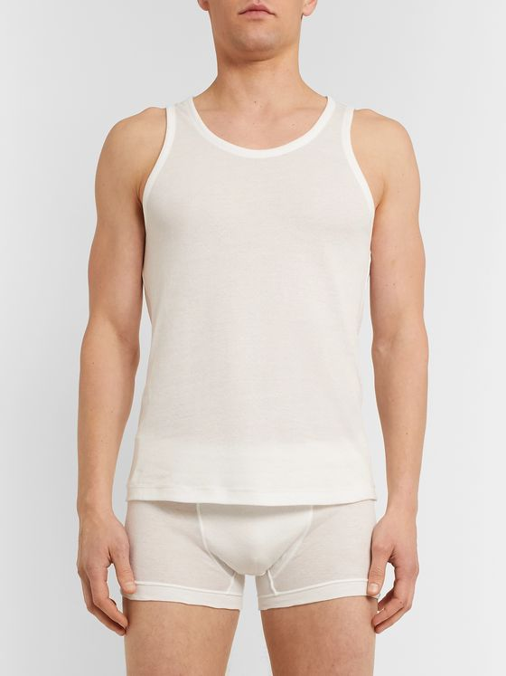 Yindigo AM Slim-Fit Cotton Tank Top