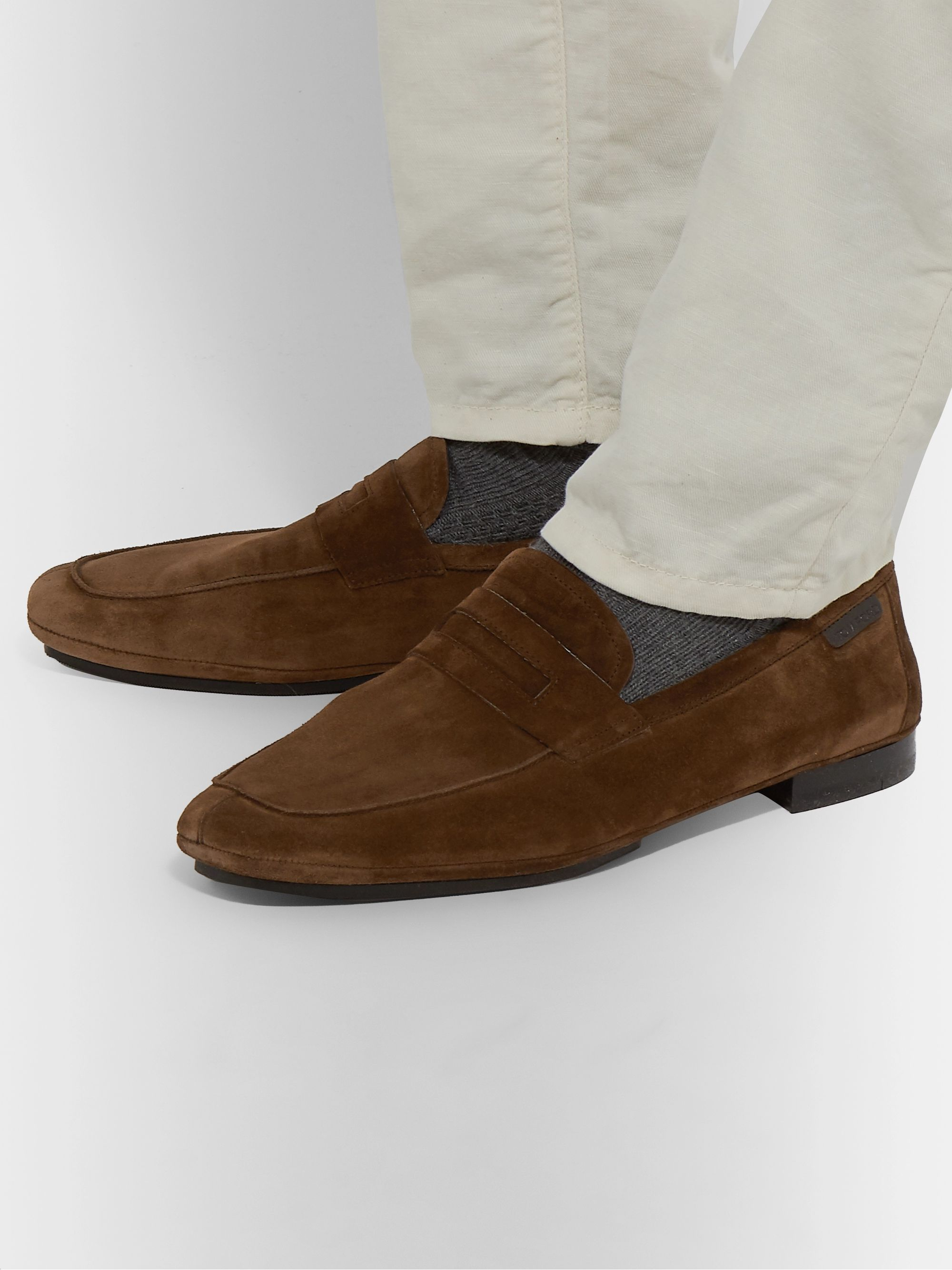 TOM FORD Berrick Suede Penny Loafers
