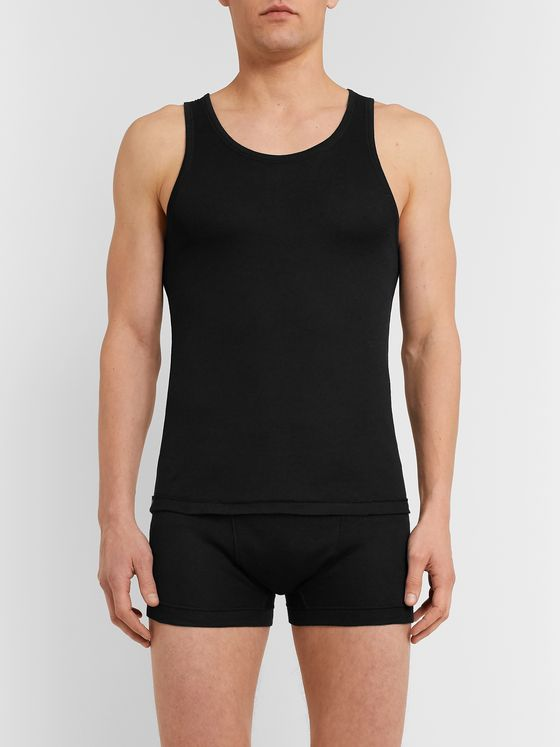 Secondskin Slim-Fit Cotton Tank Top