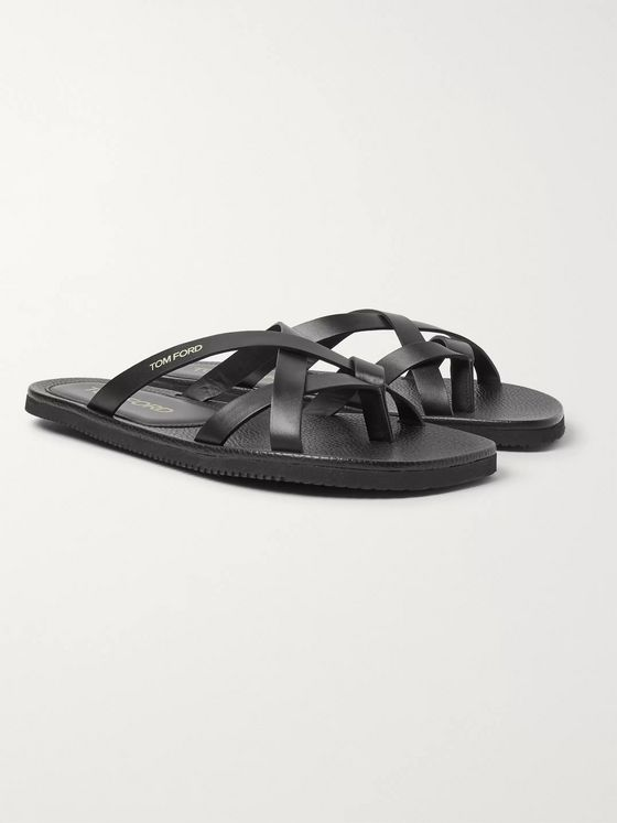 TOM FORD Seafield Leather Sandals
