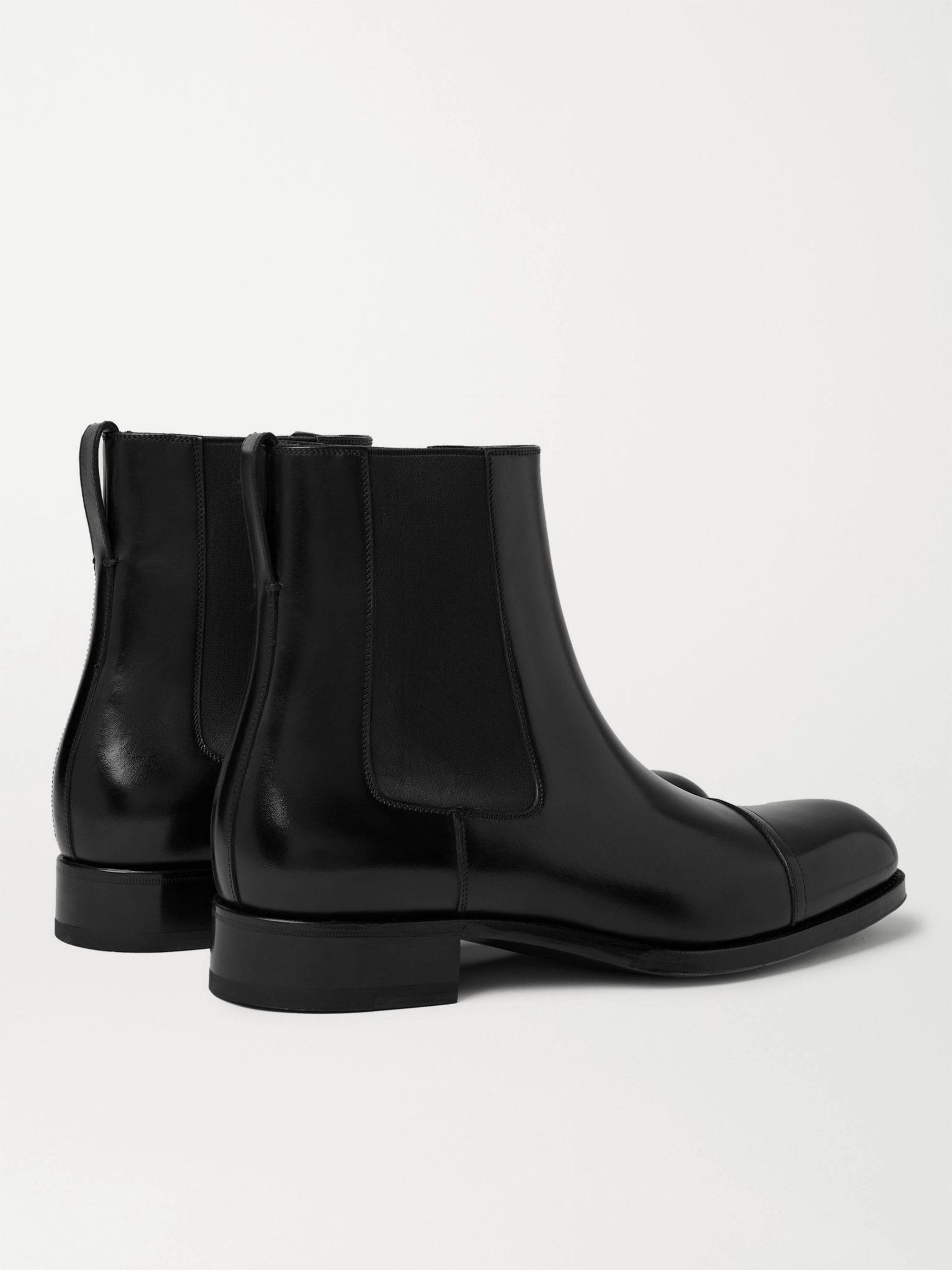 TOM FORD Edgar Cap-Toe Polished-Leather Chelsea Boots