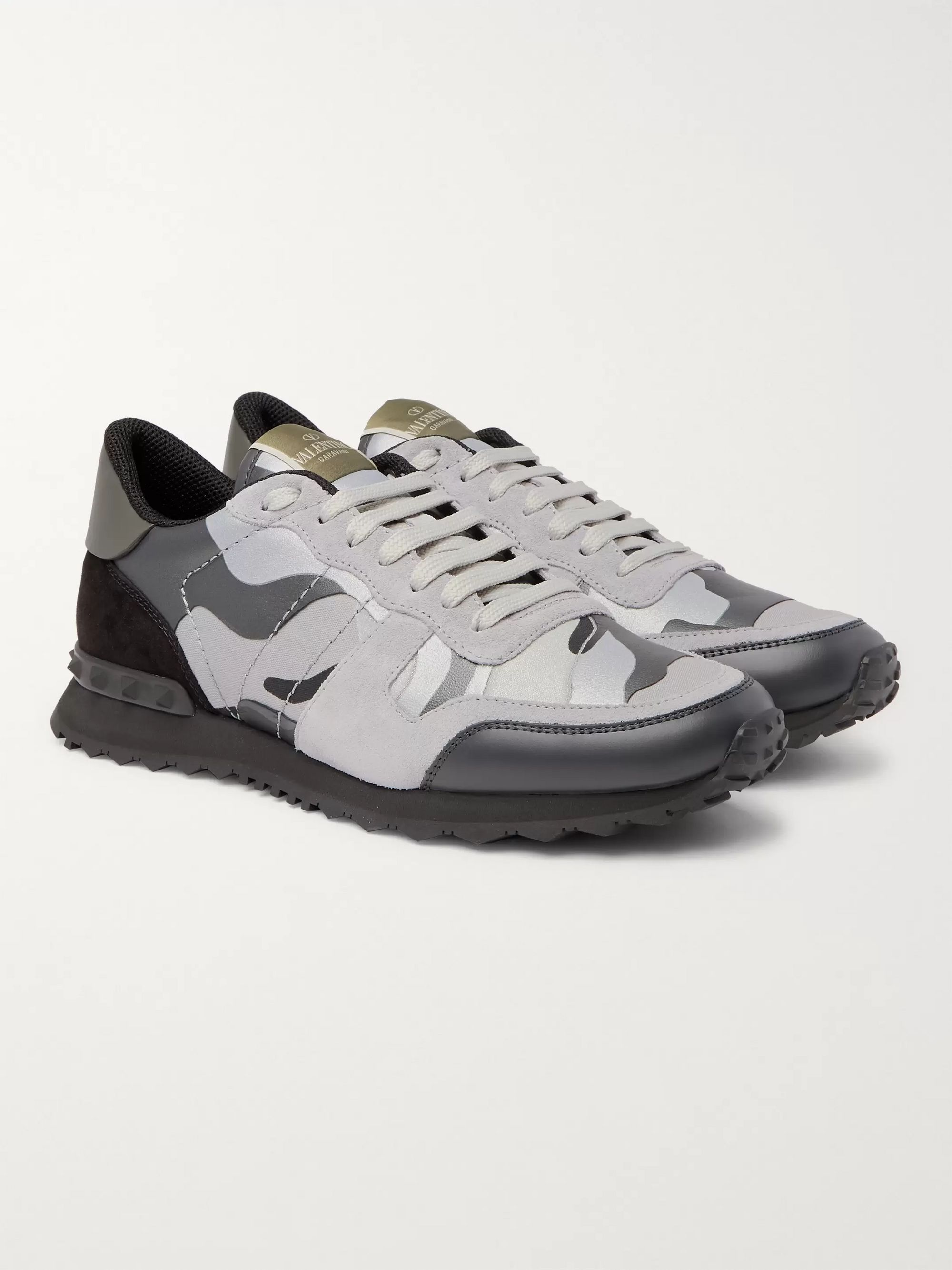 best cheap newest collection get online Gray Valentino Garavani Rockrunner Camouflage-Print Canvas ...