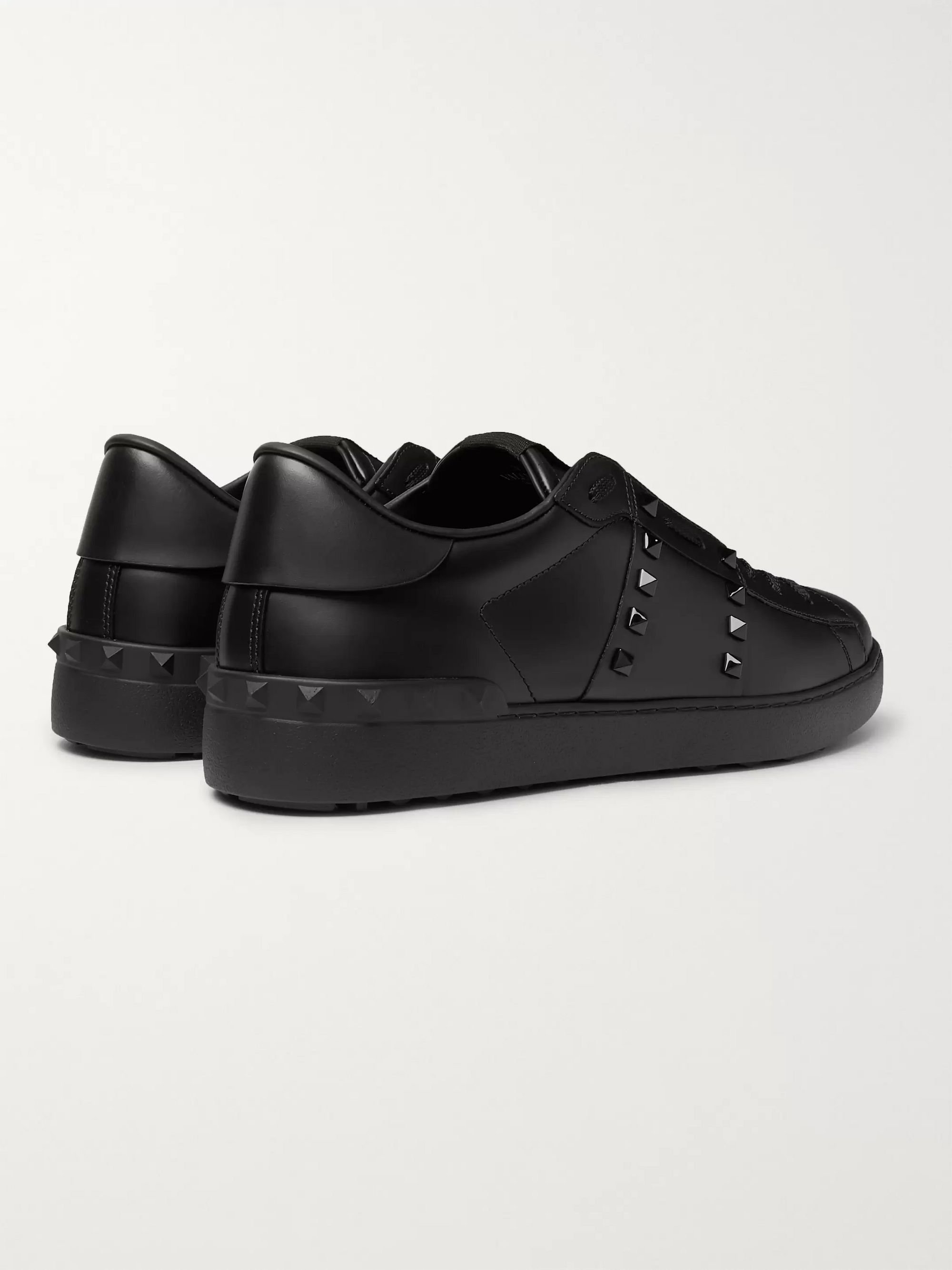 Valentino Valentino Garavani Open Rockstud Leather Sneakers